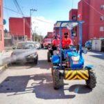 Protección civil continúa con acciones de sanitización en colonias de Tulancingo