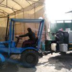 Protección civil realizó la sanitización de la plaza del vestido de Tulancingo