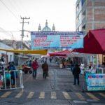 Tianguis tradicional continúa operando con 30 por ciento de cupo y con venta a perecederos