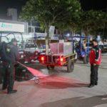 Continúa protección civil de Tulancingo con operativo de sanitización a espacios públicos
