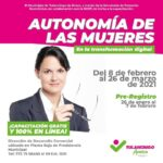 Secretaría de fomento económico capacita a 16 mujeres para lograr independencia económica