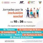 Efectuarán el 12 de marzo, las jornadas de inclusión social