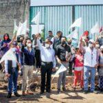 Presidente Jorge Márquez comenzó semana con banderazos de inicio de obra