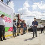 Inauguró alcalde Jorge Márquez tres pavimentos de concreto